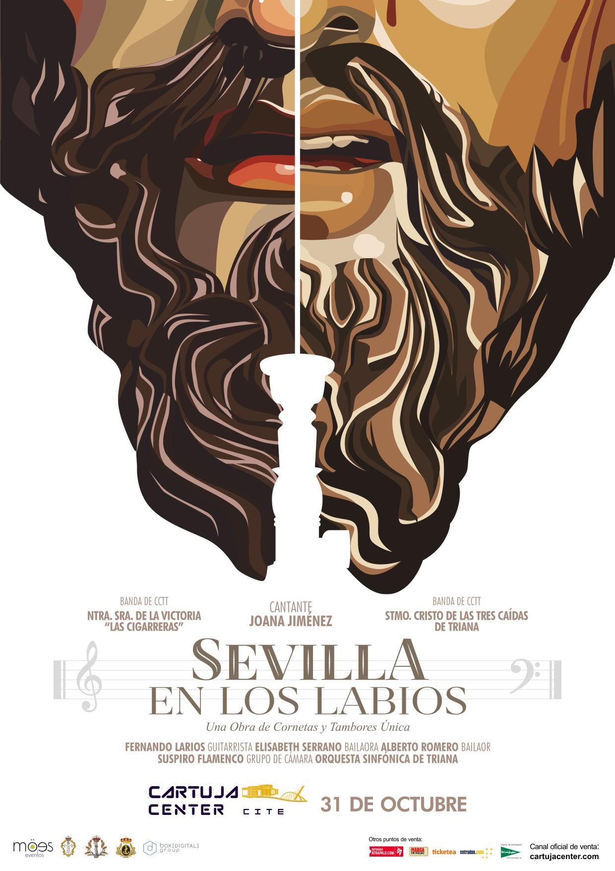 Sevilla en los labios en el Teatro Cartuja Center Cite de Sevilla.