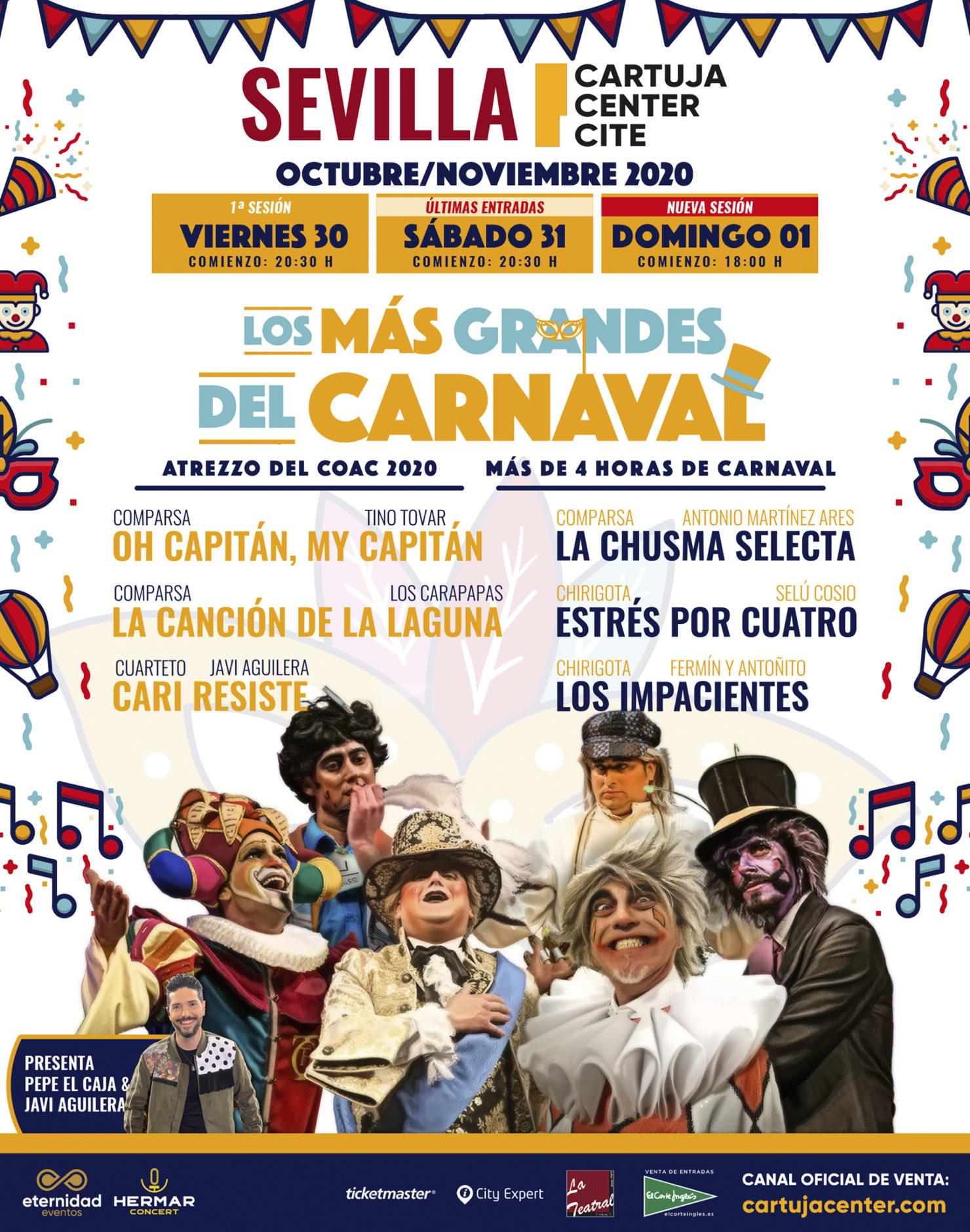 Nuevo aplazamiento 'Los Más Grandes del Carnaval' 1