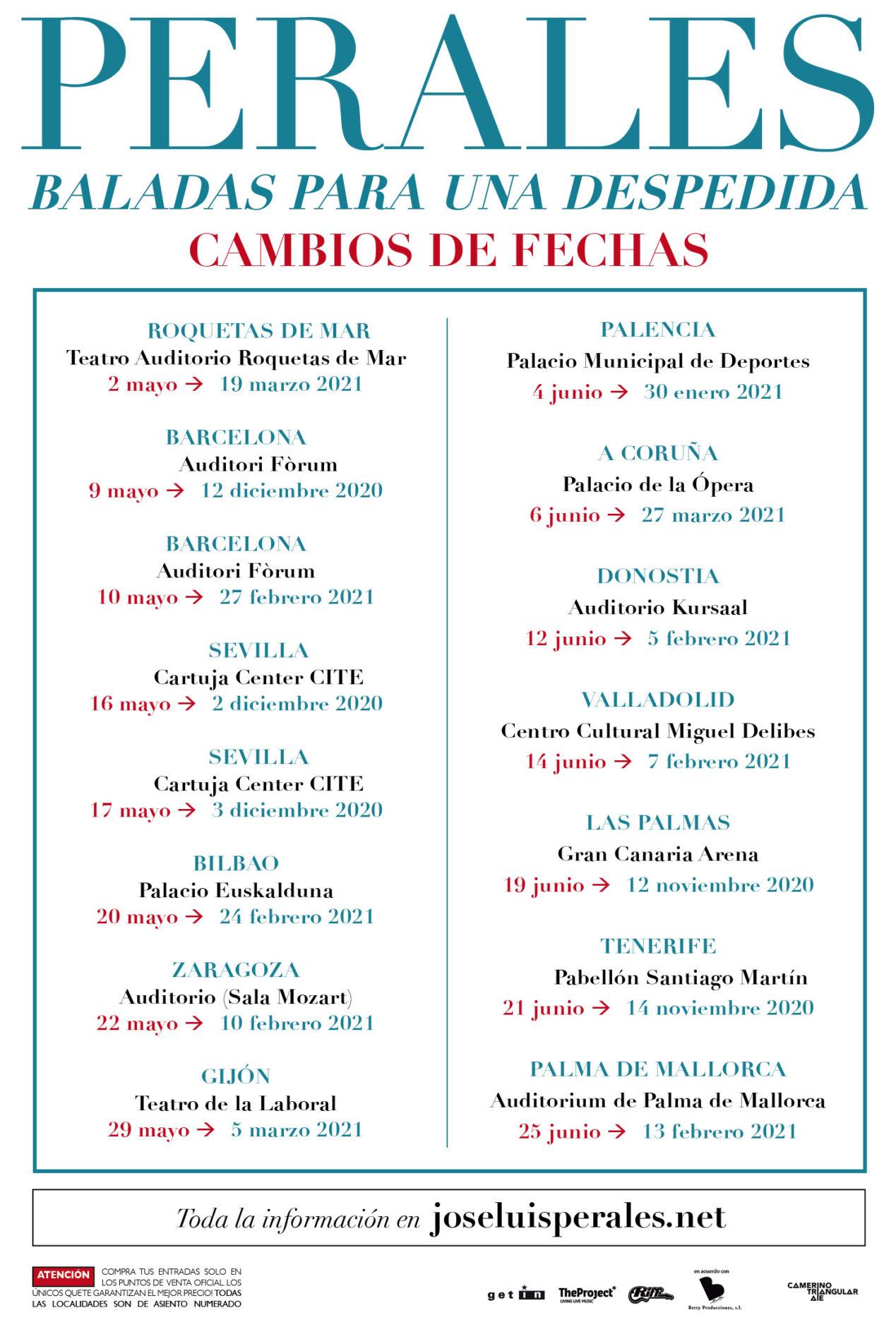 Jose Luis Perales_Cambios de fecha